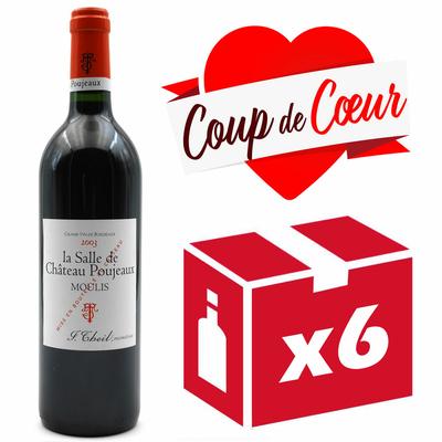 X6 La Salle de Château Poujeaux 2003 - Rouge - Moulis - 75CL