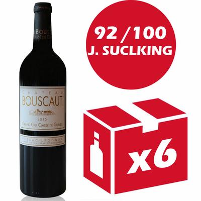 x6 Château Bouscaut 2015 Rouge 75cl AOC Pessac-Léognan