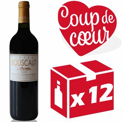 caisse x12 Château Bouscaut 2008 Rouge 75cl AOC Pessac-Léognan