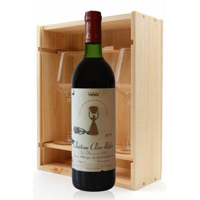 Coffret Château Clerc Milon 1979 + 2 verres Rouge 75cl AOC Pauillac