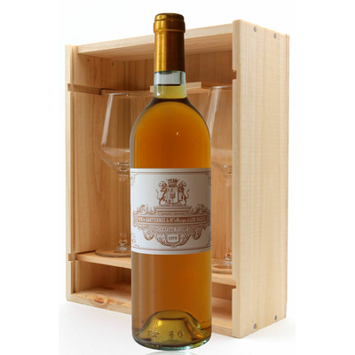 Coffret Château Filhot GCC 1979 + 2 verres Blanc 75cl AOC Sauternes