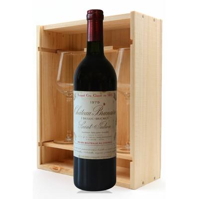 Coffret Château Branaire 1979 + 2 verres Rouge 75cl AOC Pauillac