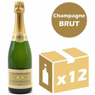 x12 Champagne Charles Montaine Brut
