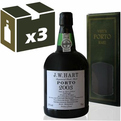 x3 Porto J.W. Hart 2003 - 75cl