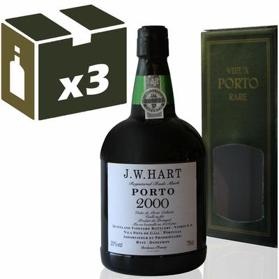 x3 Porto  J.W. Hart 2000 - 75cl