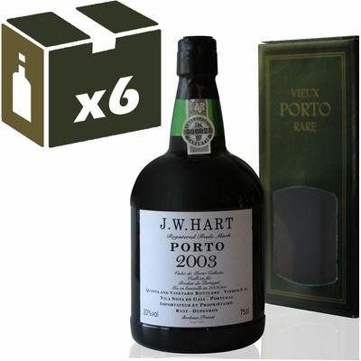 x6 Porto J.W. Hart 2003 - 75cl