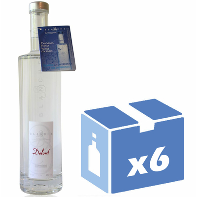 x6 Blanche Armagnac - Delord - 70cl