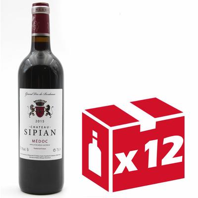 x12 Château Sipian 2015 Grand Vin Rouge de Bordeaux Médoc 75cl AOC Médoc