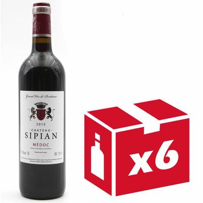 x6 Château Sipian 2015 Grand Vin Rouge de Bordeaux Médoc 75cl AOC Médoc