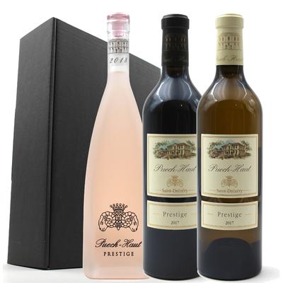 Coffret 3 bouteilles de Vins Rouge, Blanc et rosé du Château Puech Haut - Côteaux du Languedoc