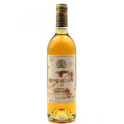 Château Rayne Vigneau 1979 Blanc 75cl AOC Sauternes
