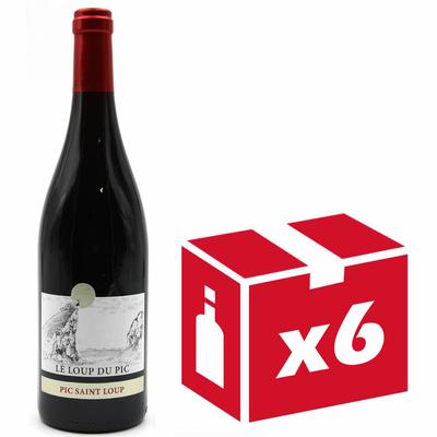 X6 Château Puech-Haut - Le Loup du Pic 2017 - Rouge - Côteaux du Languedoc