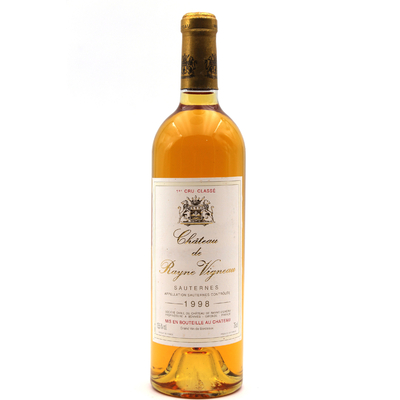 Château Rayne Vigneau 1998 Blanc 75cl AOC Sauternes