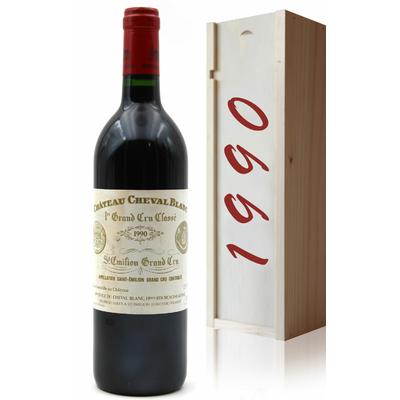 Coffret Château Cheval Blanc 1990 Rouge 75cl AOC Saint-Émilion