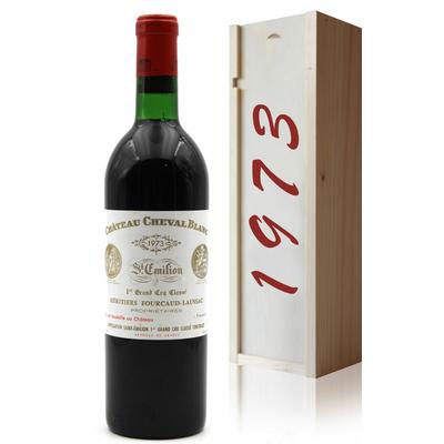 Coffret Château Cheval Blanc 1973 Vin Rouge 75cl AOC Saint-Émilion