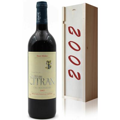Coffret Château Citran 2002 Vin Rouge 75cl AOC Haut Médoc
