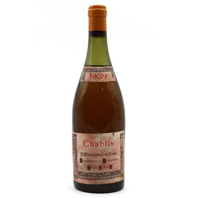 Chablis 1939 - P Misserey & Frère - Vin Blanc- 75cl - AOC - Bourgogne