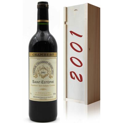Coffret Château Chambert-Marbuzet 2001 Vin Rouge 75cl AOC Saint-Estephe
