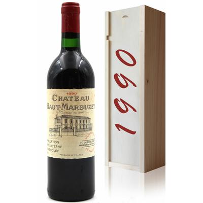 Coffret Château Haut Marbuzet 1990 Vin Rouge 75cl AOC Saint-Estephe