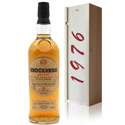 Coffret Whisky Knockando 1976 - 43% - 75cl