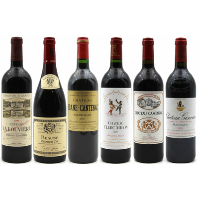Assortiment 6 Grands Crus 1999 - Vins Rouge - 75cl - AOC