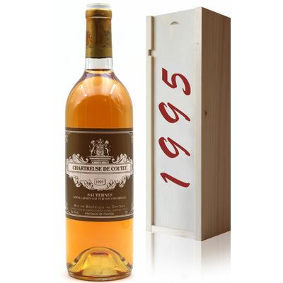 Coffret Château Chartreuse de Coutet 1995 vin Blanc 75cl AOC Sauternes