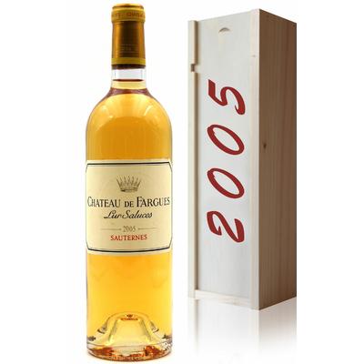 Coffret Château Fargues 2005 Vin Blanc 75cl AOC Sauternes