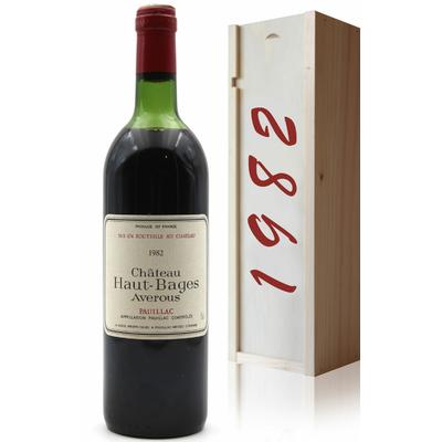 Coffret Château Haut Bages Averous 1982 Rouge 75cl AOC Pauillac