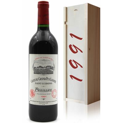 Coffret Château Grand Puy Lacoste 1991 Vin Rouge 75cl AOC Pauillac
