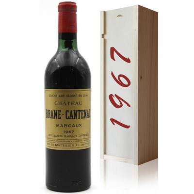 Coffret Château Brane Cantenac 1967 Vin Rouge 75cl AOC Margaux