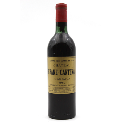 Château Brane Cantenac 1967 Vin Rouge 75cl AOC Margaux