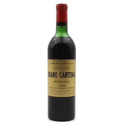 Château Brane Cantenac 1969 Vin Rouge 75cl AOC Margaux