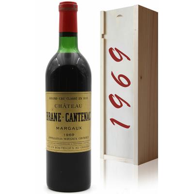Coffret Château Brane Cantenac 1969 Vin Rouge 75cl AOC Margaux