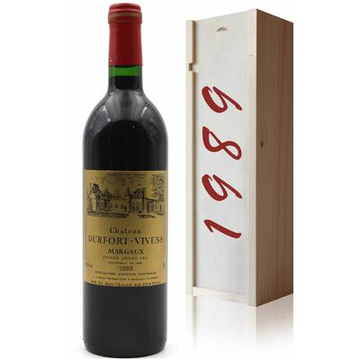 Coffret Château Durfort-Vivens 1989 Vin Rouge 75cl AOC Margaux