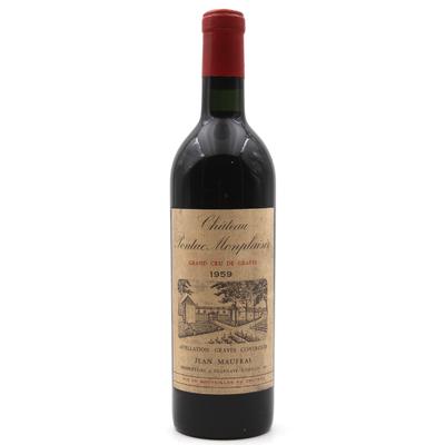 Château Pontac Monplaisir 1959 Vin Rouge 75cl AOC Péssac-Léognan