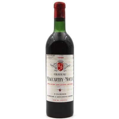 Château Maccarthy-Moula 1969 Vin Rouge 75cl AOC Saint-Estephe