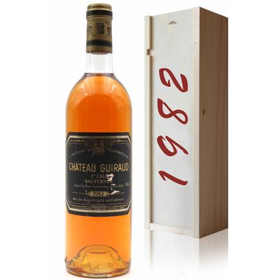 Coffret Château Guiraud 1982 Vin Blanc 75cl AOC Sauternes