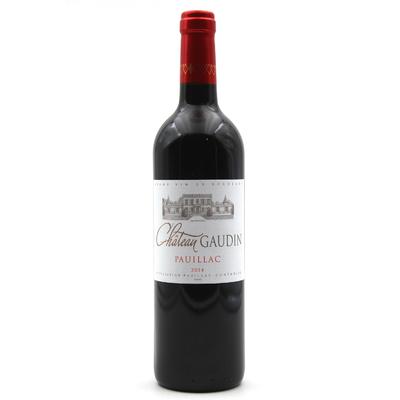 Un Carton de 6 bouteilles Château Gaudin 2014 Rouge 75cl AOC Pauillac