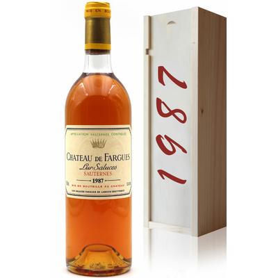 Coffret Château de Fargues 1987 Vin Blanc 75cl AOC Sauternes