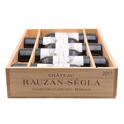 Caisse de 6 bouteilles Château Rauzan Ségla 2017 Rouge 75cl AOC Margaux