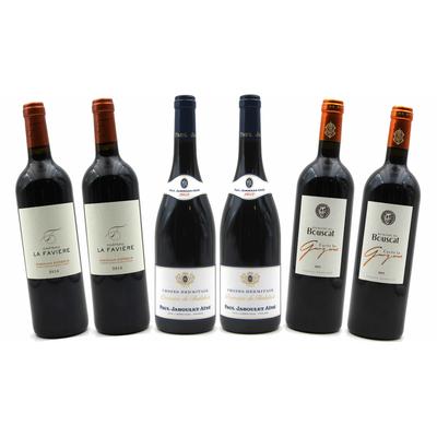 Carton de 6 bouteilles de vins rouges, les incontournables
