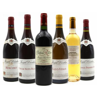 Carton 6 Bouteilles de Bourgognes, Montagne Saint-Émilion et Sauternes