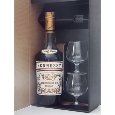Coffret Cognac Hennessy Bras Armée 60-70S + 2 Verres A Cognac