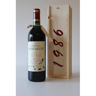 Coffret  Château Maucaillou 1986 Rouge 75cl AOC  Moulis