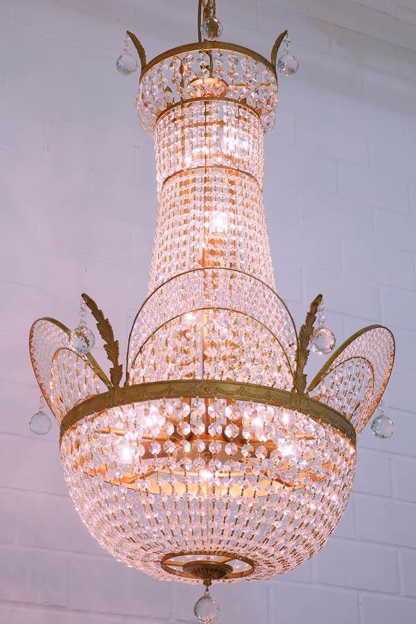 Lustre en cristal style art nouveau 50 cm nancy - Produit nettoyage lustre cristal ...