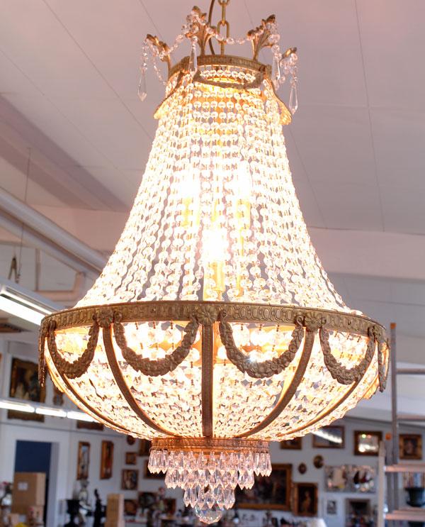 Lustre en cristal style empire 60 cm fontainebleau - Produit nettoyage lustre cristal ...