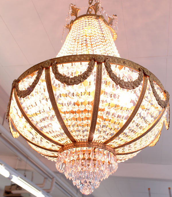 lustre en cristal style empire 60 cm fontainebleau. Black Bedroom Furniture Sets. Home Design Ideas