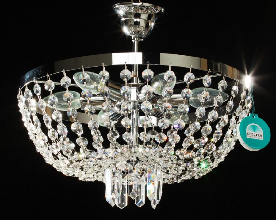 plafonnier cristal spectra swarovski montgolfi re 40 cm catajo. Black Bedroom Furniture Sets. Home Design Ideas