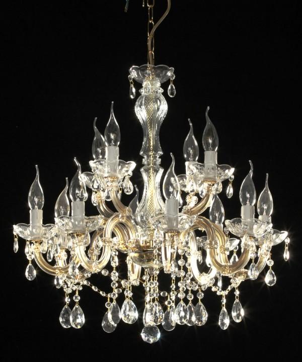 Lustre mari th r se en verre italien 12 feux calabro - Produit nettoyage lustre cristal ...