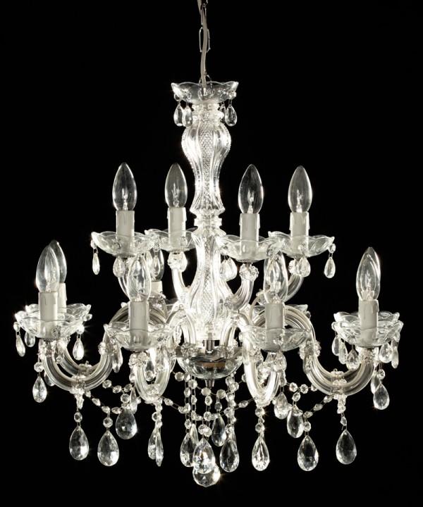 lustre mari th r se en verre italien 12 feux calabro. Black Bedroom Furniture Sets. Home Design Ideas